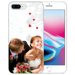 iPhone 7+/ 8 Plus Silikon / TPU Schutzhülle mit Foto Namen Bilddruck