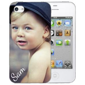 iPhone 4, 4s TPU Schutzhülle mit Foto Text Bilddruck zum selbst gestalten