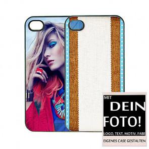 2D Hülle für iPhone 4 4s Hard case mit Foto und Text zum selbst gestalten.