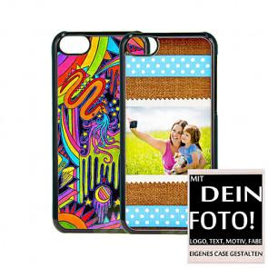 2D Hülle für iPhone 5c Hard case mit Foto und Text zum selbst gestalten.