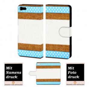 HTC One X9 Muster Handy Tasche Hülle Foto Bild Druck
