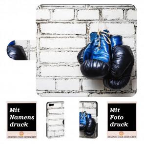 iPhone 8 Schutzhülle Handy Tasche mit Boxhandschuhe + Bilddruck