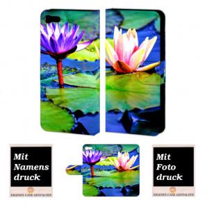 iPhone 8 Lotosblumen Handy Tasche Hülle Foto Bild Druck