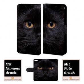 iPhone 8 Schwarz Katze Handy Tasche Hülle Foto Bild Druck