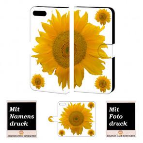 iPhone 7 Plus Sonnenblumen Handy Tasche Foto Bild Druck