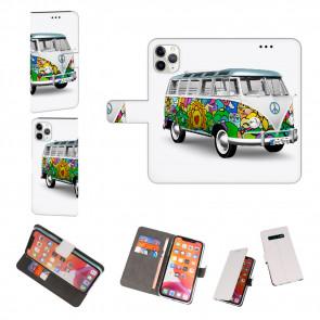 iPhone 11 Pro Max Schutzhülle Handy Hülle mit Fotodruck Hippie Bus