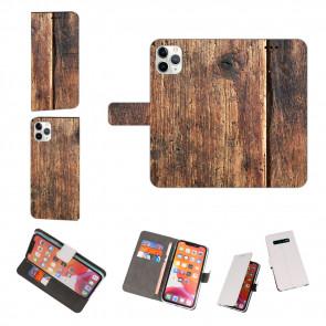 iPhone 11 Pro Max Personalisierte Handy Hülle mit Fotodruck HolzOptik