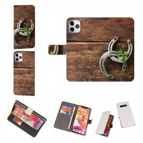 iPhone 11 Pro Max Individuelle Handy Hülle mit Fotodruck Holz hufeisen