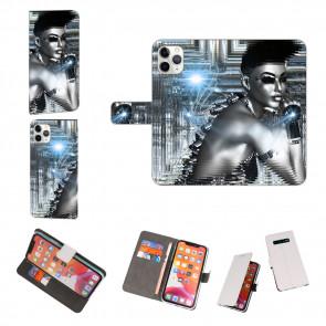 iPhone 11 Pro Max Personalisierte Handy Hülle mit Fotodruck Robot Girl
