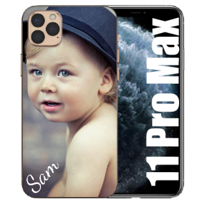 iPhone 11 Pro Max Silicone - Case TPU Handyhülle mit eigenem Foto Motiv