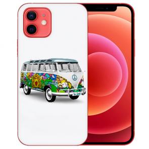 Silikon TPU Case Handyhülle mit Bilddruck Hippie Bus für iPhone 12
