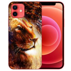 Silikon TPU Handyhülle  für iPhone 12 mit Bilddruck LöwenKopf Porträt