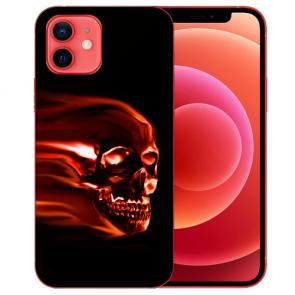 Silikon TPU Case Handyhülle für iPhone 12 mit Bilddruck Totenschädel