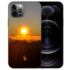 iPhone 12 Pro Max Handy Hülle Tasche mit Bilddruck Sonnenaufgang