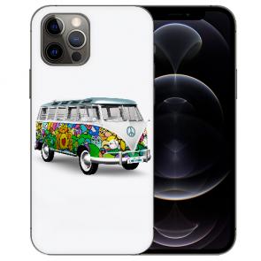iPhone 12 Pro Handy Hülle Tasche mit Bilddruck Hippie Bus