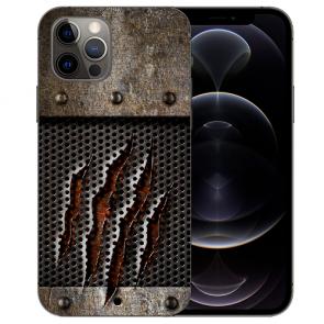 iPhone 12 Pro Max Handy Hülle Tasche mit Bilddruck Monster-Kralle