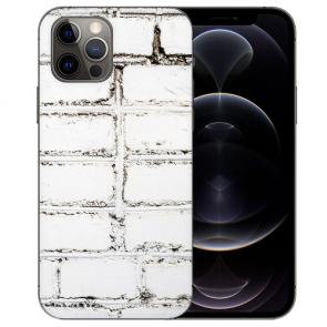 Handy Hülle Tasche mit Bilddruck Weiße Mauer für iPhone 12 Pro