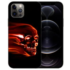 iPhone 12 Pro Max Handy Hülle Tasche mit Bilddruck Totenschädel