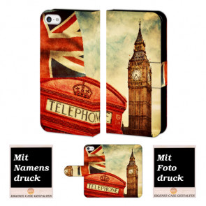 iPhone 5 / 5S / SE Big Ben-Uhrturm London Handy Tasche Hülle Foto Bild Druck