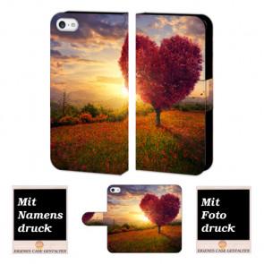 iPhone 5 / 5S / SE Individuelle Handyhülle mit Herzbaum + Bilddruck Text