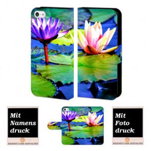 iPhone 5 / 5S / SE Lotosblumen Handy Tasche Hülle Foto Bild Druck