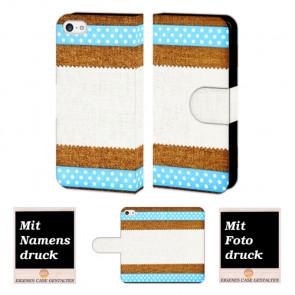 iPhone 5, 5s, SE Muster Handy Tasche Foto Bild Druck