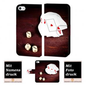 iPhone 5 / 5S / SE Spielkarten -Würfel Handy Tasche Hülle Foto Bild Druck