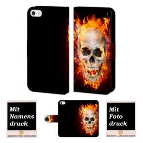 iPhone 5 / 5S / SE Totenschädel Handy Tasche Hülle Foto Bild Druck