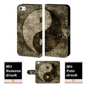iPhone 5 / 5S / SE yin yang Handy Tasche Hülle Foto Bild Druck
