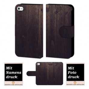 iPhone 5C Holz Optik Handy Hülle Tasche Foto Bild Druck