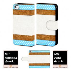 iPhone 5C Muster Handy Hülle Tasche Foto Bild Druck