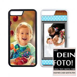 2D Hülle für iPhone 7 TPU- Hülle mit Foto und Text zum selbst gestalten.
