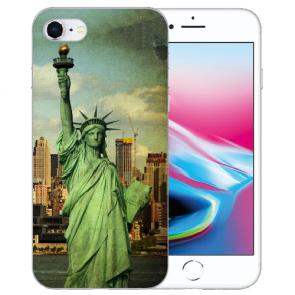 iPhone SE (2020) Silikon TPU Handy Hülle mit Freiheitsstatue Bilddruck