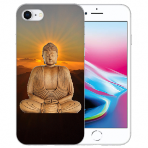iPhone SE (2020) Silikon TPU Handy Hülle mit Frieden buddha Bilddruck