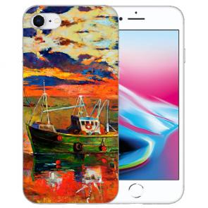 Silikon TPU Handy Hülle mit Gemälde Bilddruck für iPhone SE (2020)