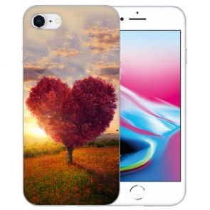 iPhone SE (2020) Silikon TPU Handy Hülle mit Herzbaum Bilddruck