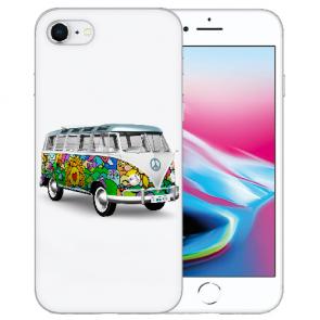 Silikon TPU Hülle mit Hippie Bus Bilddruck für iPhone SE (2020) Etui
