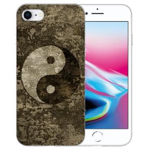 Silikon TPU Handy Hülle mit Yin Yang Bilddruck für iPhone SE (2020)