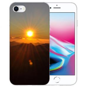 Silikon TPU Hülle mit Sonnenaufgang Bilddruck für iPhone SE (2020)
