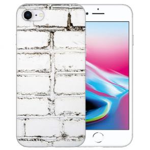 iPhone SE (2020) Silikon TPU Hülle mit Weiße Mauer Bilddruck Case