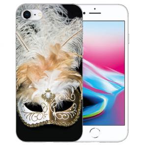Silikon TPU Hülle mit Venedig Maske Bilddruck für iPhone SE (2020)