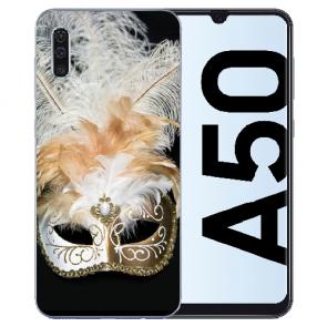 Silikon TPU Hülle mit Fotodruck Venedig Maske für Samsung Galaxy A50s