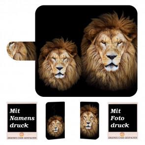Personalisierte Handy Hülle für Nokia 8.1 mit Löwe + Fotodruck Etui
