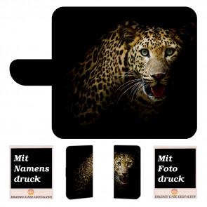 Samsung Galaxy S10 Lite Schutz Hülle Handy mit Leopard + Bilddruck Etui