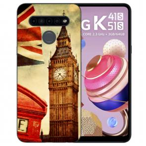Schutzhülle Silikon TPU für LG K51s mit Big Ben London Bilddruck