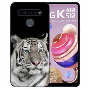Silikon TPU Case mit Tiger Bilddruck Schutzhülle für LG K41s