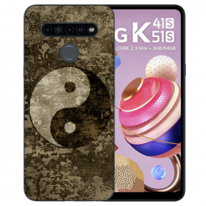 LG K51s Handyhülle Silikon TPU mit Bilddruck Yin Yang
