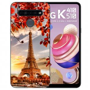 LG K51s Deine individuelle Handyhülle Silikon TPU mit Eiffelturm Bilddruck
