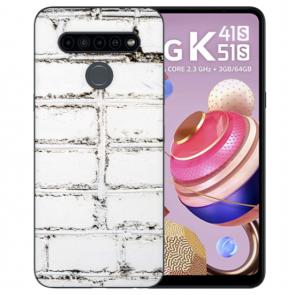LG K51s Silikon TPU Handyhülle mit Fotodruck Weiße Mauer
