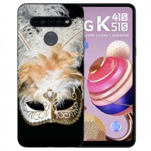 TPU Silikon Handyhülle für LG K41s mit Fotodruck Venedig Maske